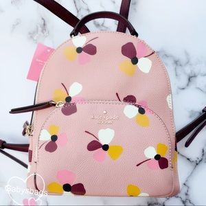 Kate spade leather backpack Pink Floral